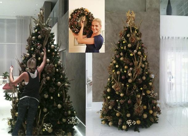 decoração natal famosos ana hickmann