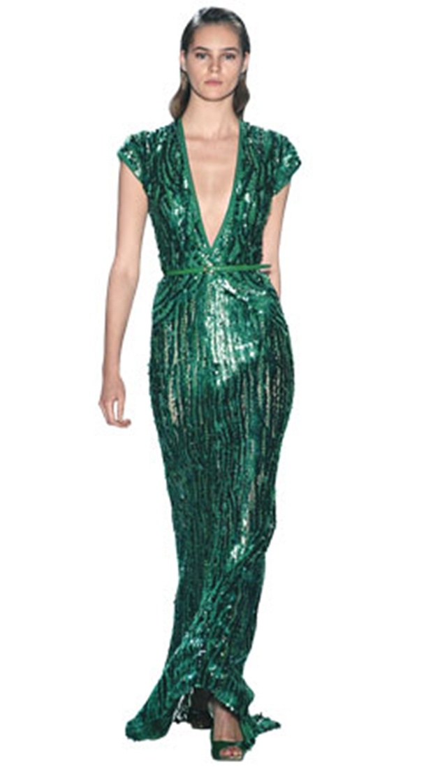vestido verde reveillon