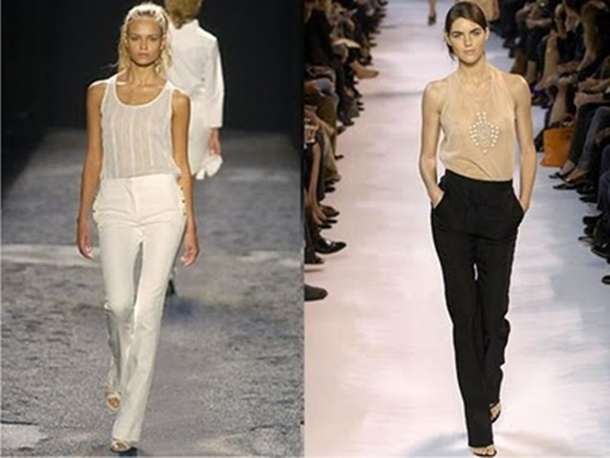 calça alfaiataria na passarela de desfiles semana da moda