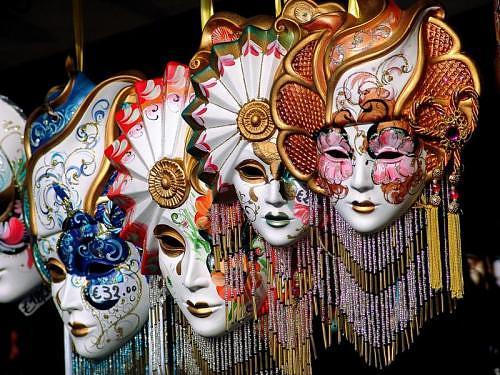 máscaras carnaval em veneza