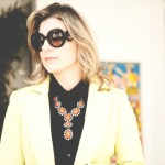 maxi colar, cris vallias, blog de moda, look amarelo