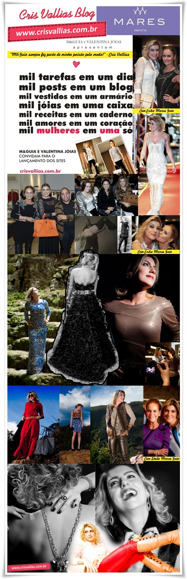 Parceria Blog Cris Vallias e MARES M&Guia Oficial 2012