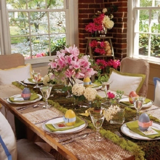 easter decor table