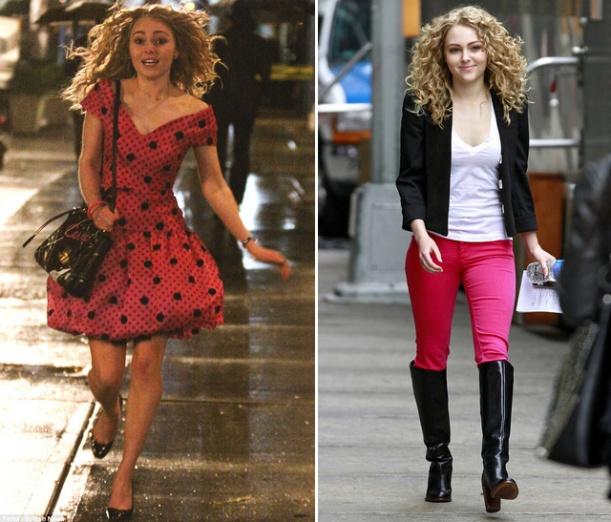 looks da jovem Carrie Bradshaw em The Carrie Diaries