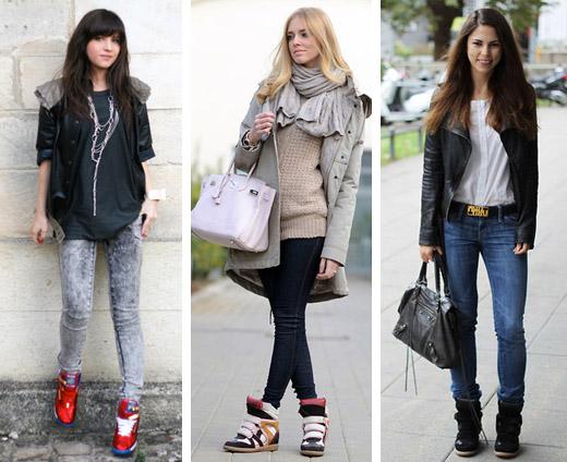 blogueiras de tênis sneakers