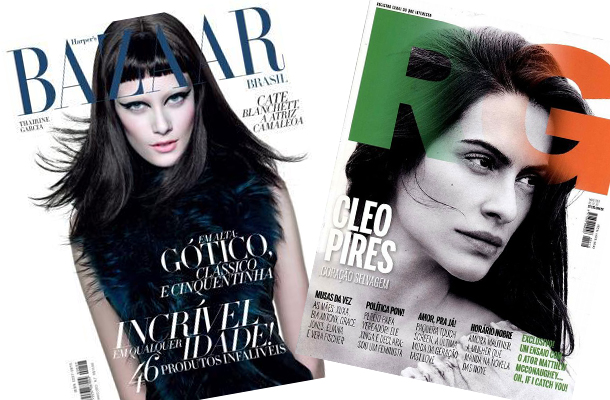 revistas RG e Harper's Bazaar no blog Cris Vallias