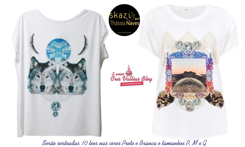 sorteio de tee skazi por thssia naves no blog cris vallias