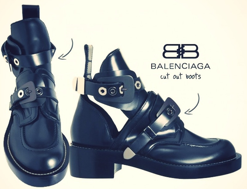 Balenciaga Cut Out Boots - cris vallias blog 1