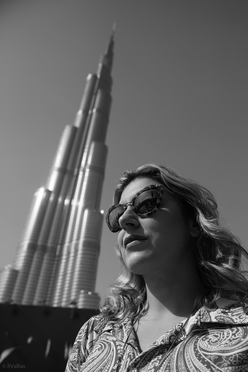 cris vallias at the top burj khalifa