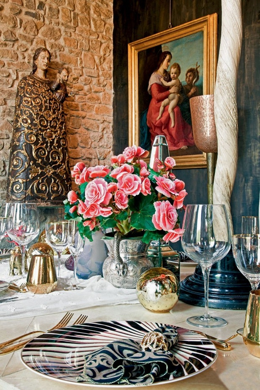 Decor da Casa de Roberto Cavalli em Florença - Cris Vallias Blog 11