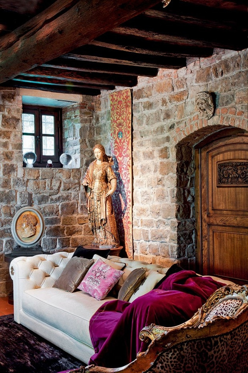 Decor da Casa de Roberto Cavalli em Florença - Cris Vallias Blog 3