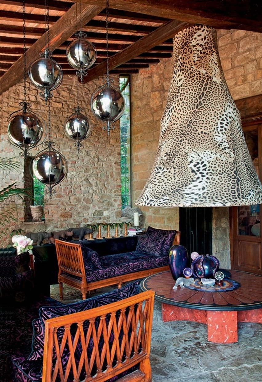 Decor da Casa de Roberto Cavalli em Florença - Cris Vallias Blog 4
