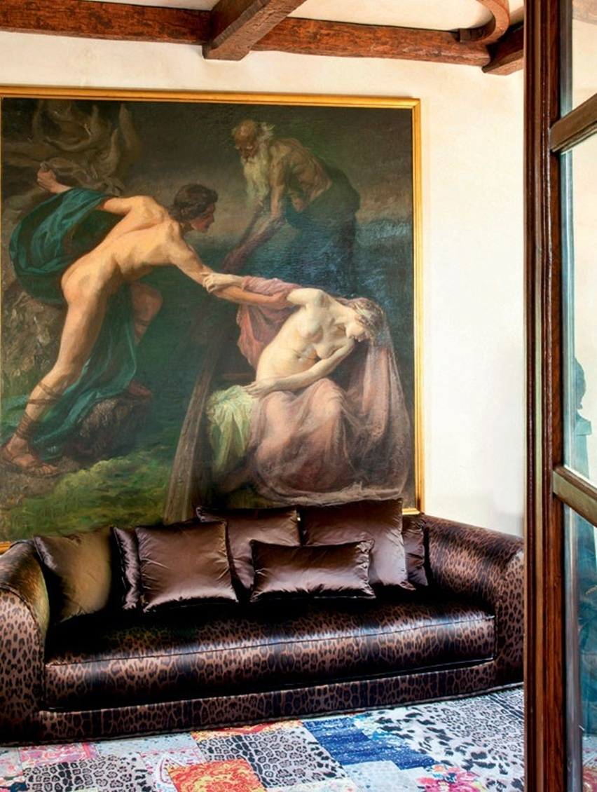 Decor da Casa de Roberto Cavalli em Florença - Cris Vallias Blog 5
