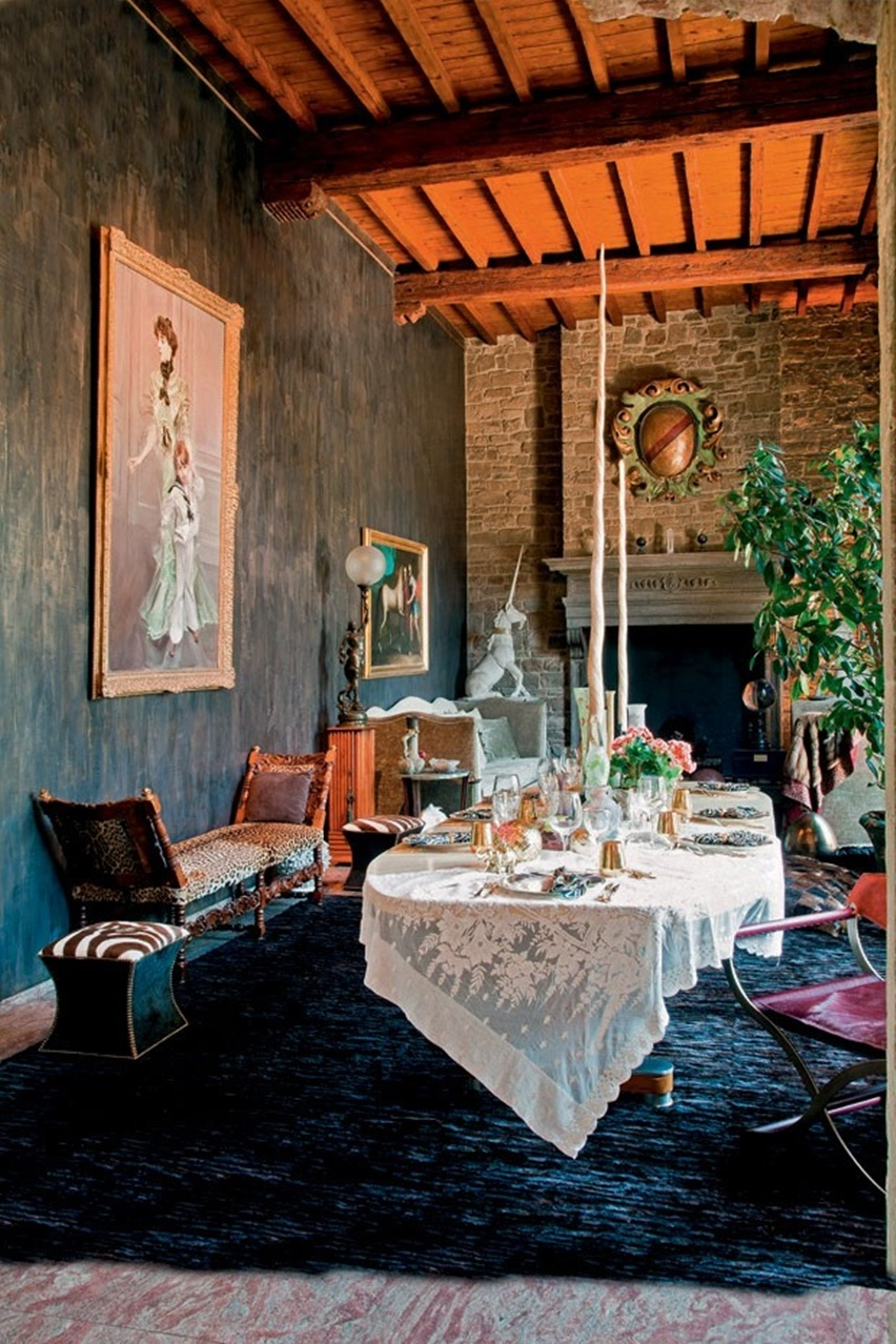 Decor da Casa de Roberto Cavalli em Florença - Cris Vallias Blog 6