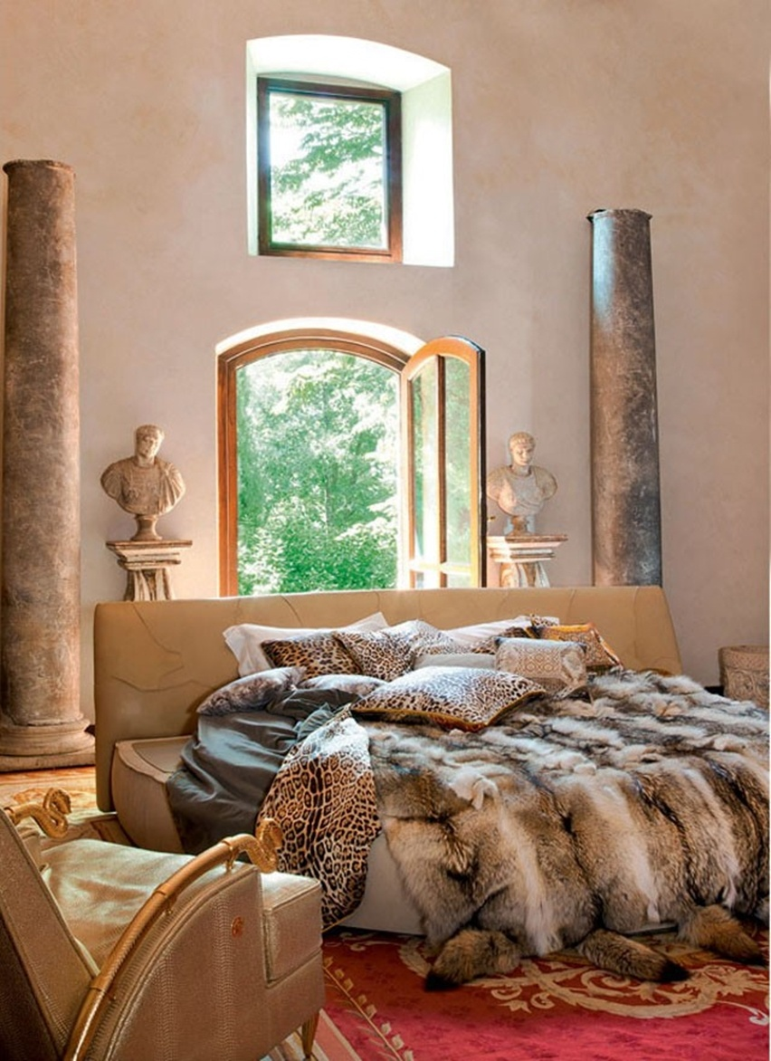 Decor da Casa de Roberto Cavalli em Florença - Cris Vallias Blog 7