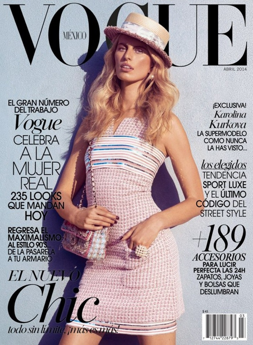 Editorial Vogue México Abril Karolina Kurkova de Chanel - Cris Vallias Blog 1