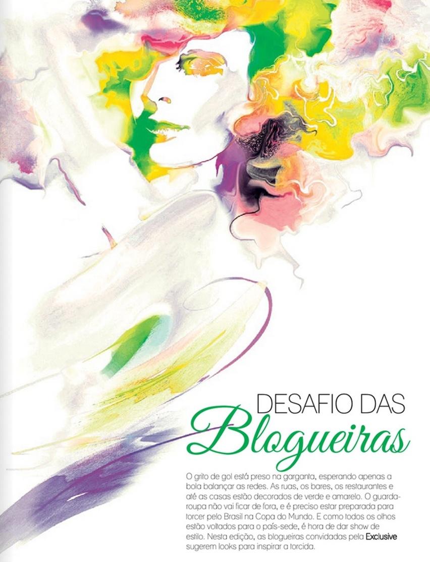 Desafio das Blogueiras - Revista Exclusive - Junho 2014 - Cris Vallias - Look para Torcer na Copa do Mundo FIFA 2014 - Belo Horizonte