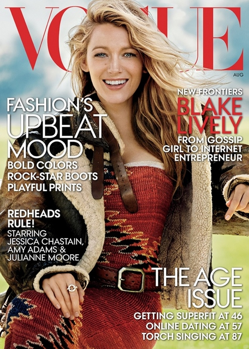 Blake Lively por Mario Testino na Vogue US Agosto 2014 - Cris Vallias blog 1