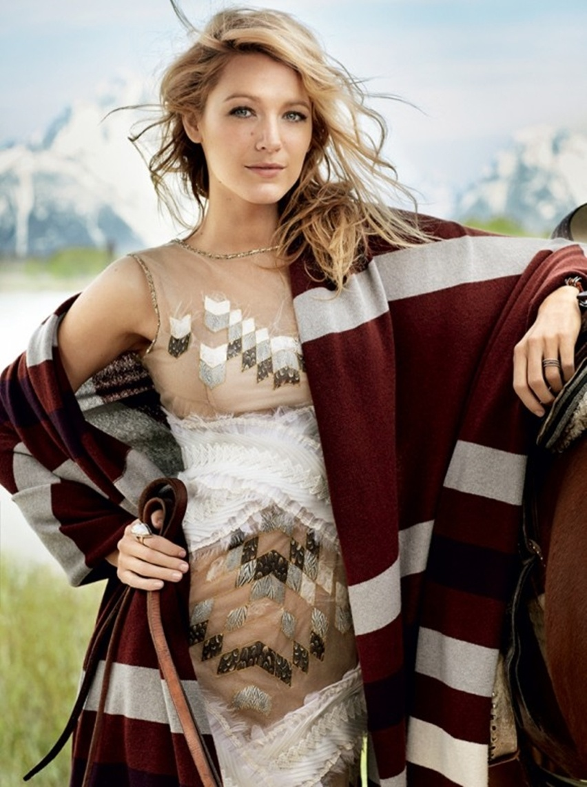 Blake Lively por Mario Testino na Vogue US Agosto 2014 - Cris Vallias blog 2