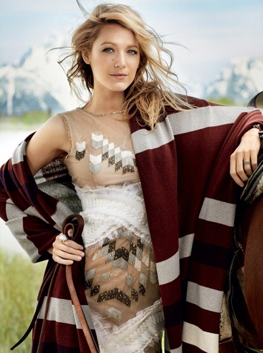 Blake Lively por Mario Testino na Vogue US Agosto 2014 - Cris Vallias blog 2