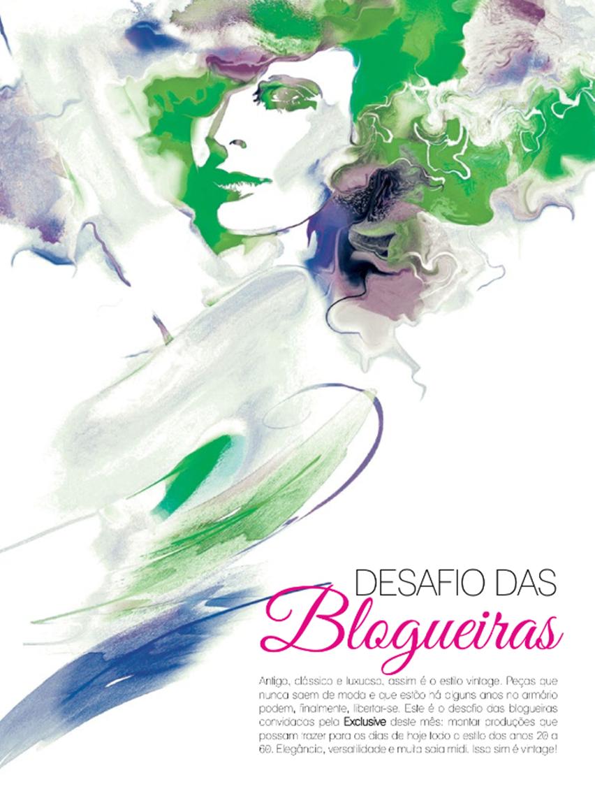 Desafio das Blogueiras - Look Vintage - Revista Exclusive - Julho 2014 - Cris Vallias Blog 1