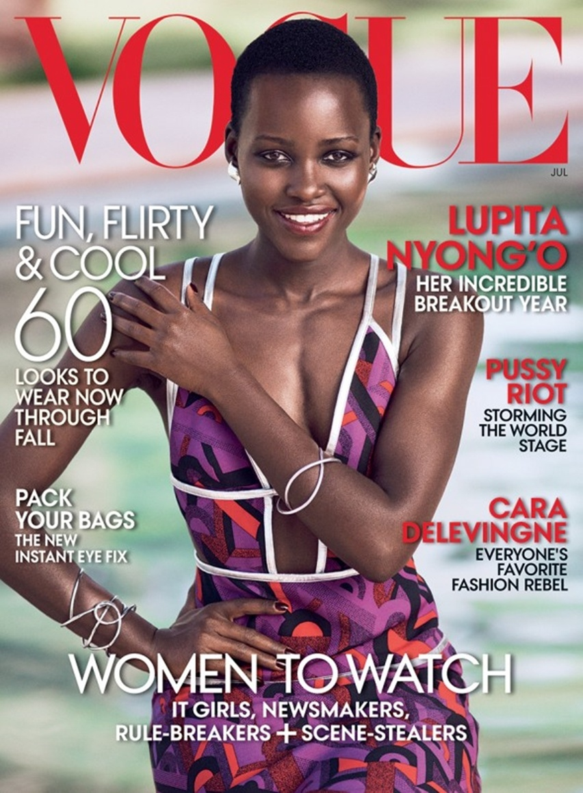 Lupita Nyong'O - Vogue América - Cris Vallias Blog 1 - Capa