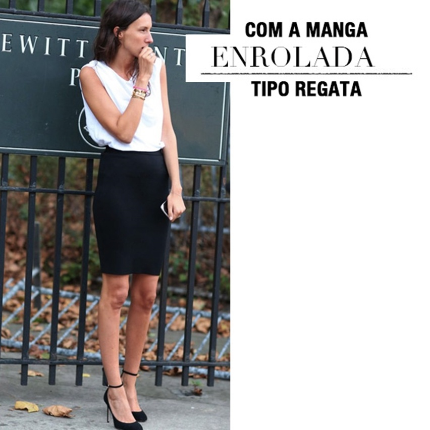 T-Shirt Branca no Look de Trabalho - Cris Vallias Blog 9