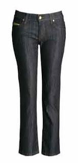 2 - calça jeans cintura de cintura no lugar