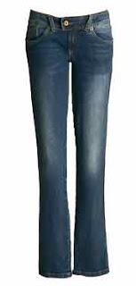 3 - calça jeans de cintura baixa