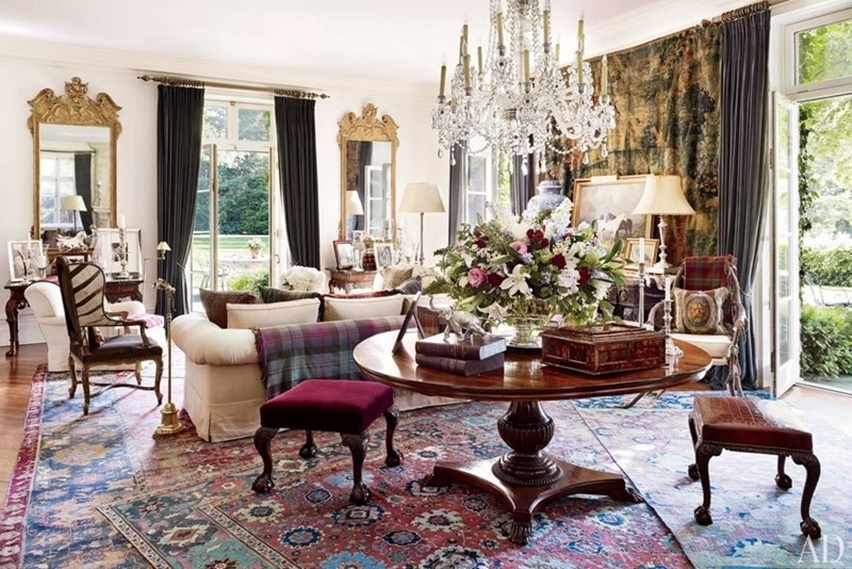 Décor da casa de Ralph Lauren - Cris Vallias Blog 3