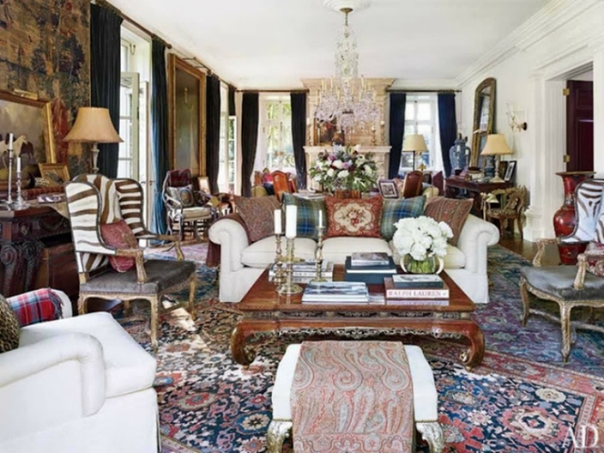 Décor da casa de Ralph Lauren - Cris Vallias Blog 4
