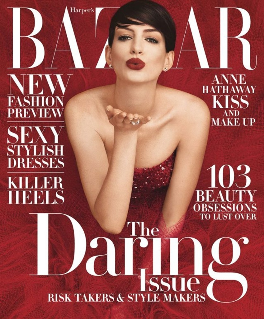 Editorial Anne Hathaway na Revista Harper Bazaar's US Novembro 2014 - Cris Vallias Blog 1