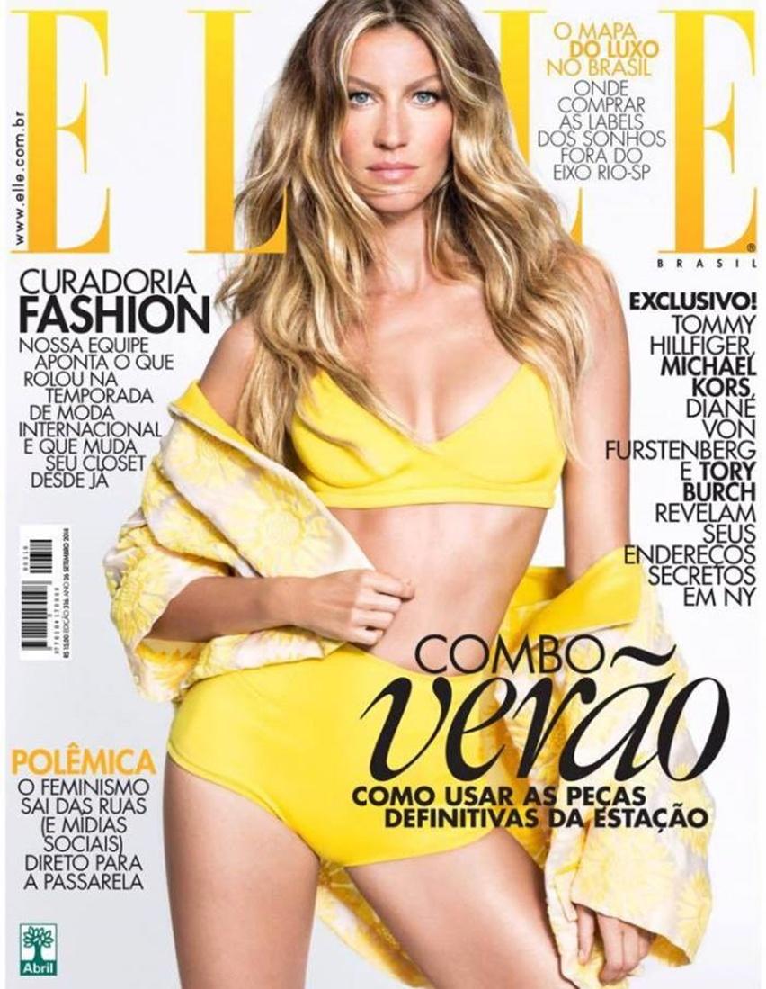 Elle Brasil Novembro 2014 - Gisele Bündchen por Nino Muñoz - Cris Vallias Blog 1