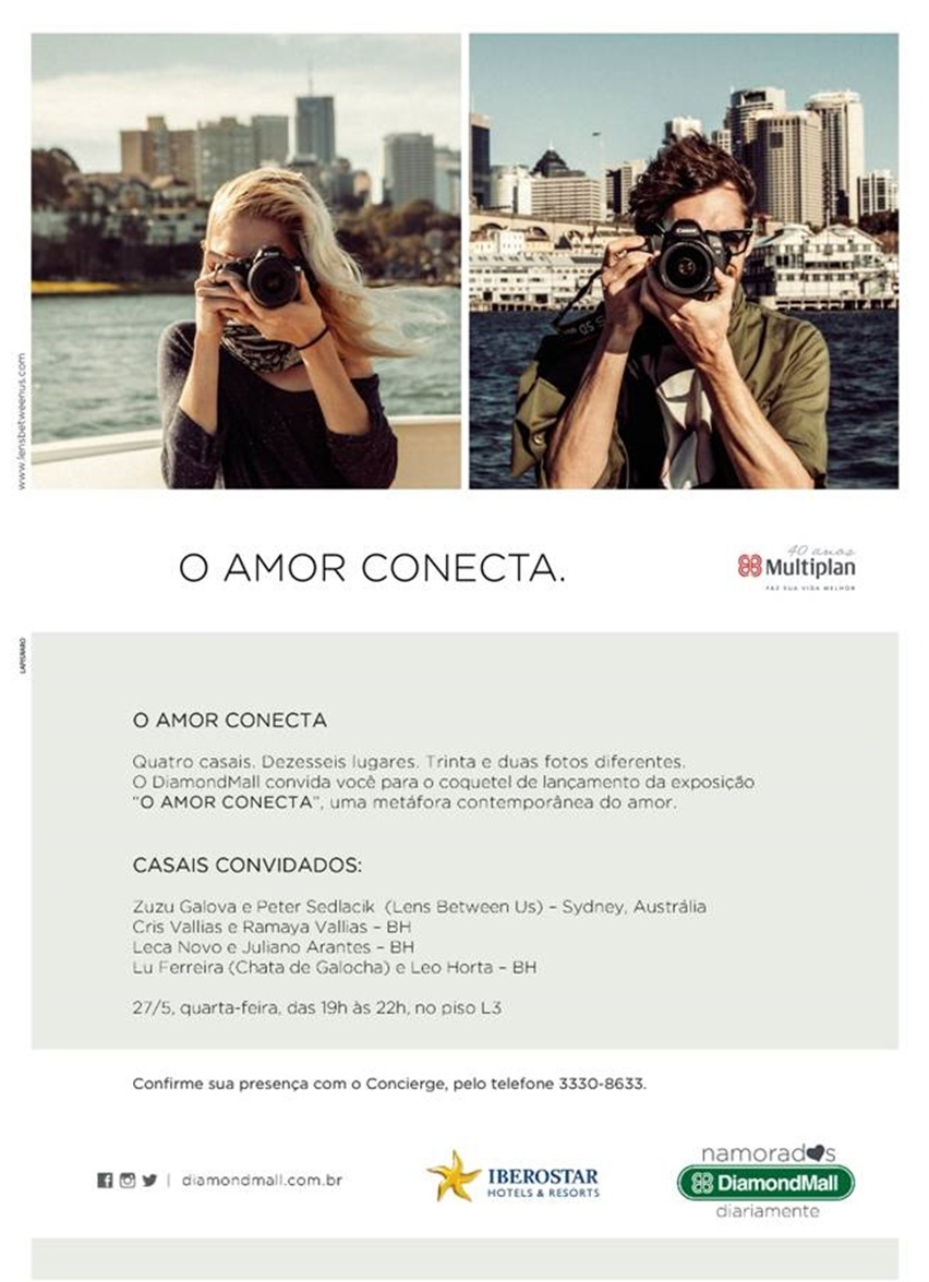 exposição-o amor conecta-lens between us-shopping diamond mall-bh